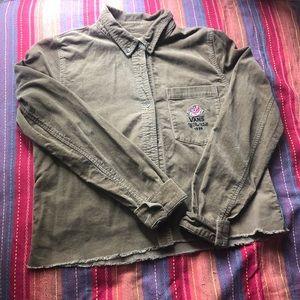 Vans tan corduroy long sleeve jacket